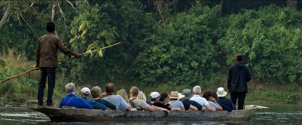 Canoe ride chitwan